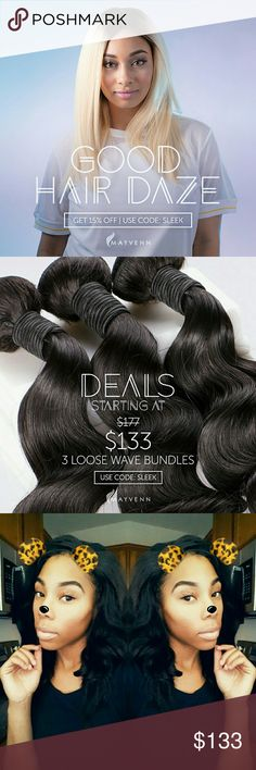 Virgin hair deals! 100% virgin hair READ DETAILS Online bundle deals only shop my virgin hair boutique here www.beautifymevirginhair.mayvenn.com 100 % VIRGIN HAIR with free standard shipping on all orders no MINIMUM REQUIRED also shop our 3 bundle deals and more Accessories