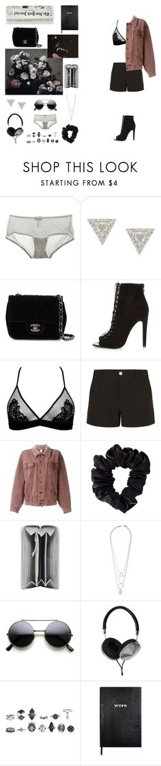 """""""Angry dog"""" by mona-sml ❤ liked on Polyvore featuring Cosabella, Lizzie Mandler, Chanel, River Island, Fleur of England, Gucci, Moschino, American Apparel, Balenciaga and Maison Margiela"""