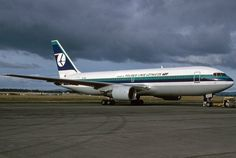 Air New Zealand Boeing 767-200 ZK-NBJ went to LOT on lease three years in a row... It is photographed here at Auckland Airport on 9 May 1992. Image John Mounce