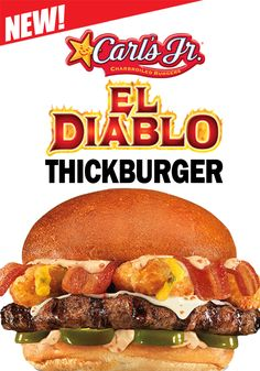 Did you try the amazing El Diablo Thickburger @Carl's Jr. Bahamas? Go fot it rigth now! You will really enjoy it! #Burguer #bacon #Tasty