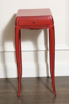 Art Deco Pair of Lacquered End Tables by Jean Dunand