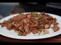 Black Pepper Chicken Stir Fry Recipe on a Weber grill - YouTube