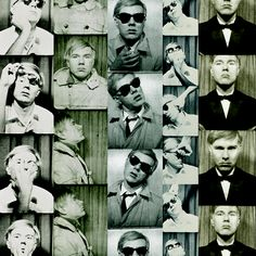 A photo booth icon: Andy Warhol