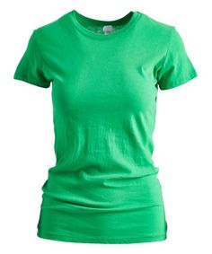 Pima Apparel Kelly Green Crewneck Tee - Women | Zulily