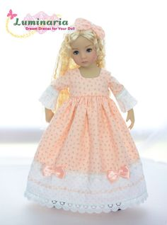 "SOLD ""Pink Petals""Regency Dress,Outfit,Clothes for 13""Effner Little Darling"