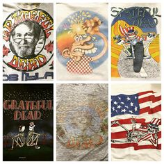 Original 70's - 80's grateful dead t shirts in our SF shop