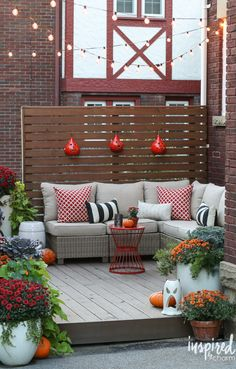 Fall Deck decor / outdoor fall decorating   Best of 2016: Interiors - Inspired by Charm