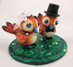 Pepe Love Birds Wedding Cake Topper by DragonCid.deviantart.com on @DeviantArt