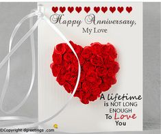 Express your love to your wife by sending her a lovely anniversary quote.