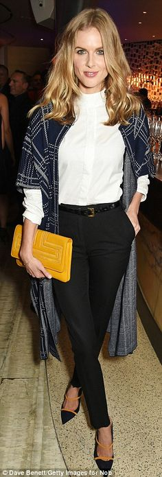 Bang on-trend:Donna, who is dating Catherine, Duchess of Cambridge's brother James Middle...
