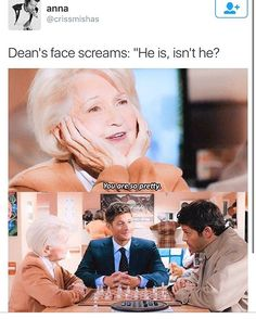 Dean's face: My boyfriend is gorgeous, huh //I just watched this episode! I saw deans face and im like nawwwww//