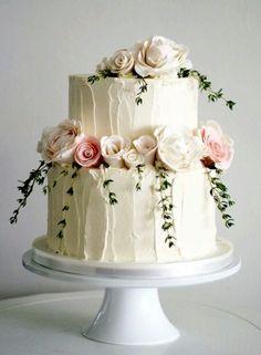 Textured Wedding Cakes, White Wedding Cakes, Cool Wedding Cakes, Beautiful Wedding Cakes, Wedding Cake Designs, Beautiful Cakes, White Weddings, Wedding White, 1 Layer Wedding Cake