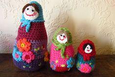 russian dolls crochet matrioshka  #attic24