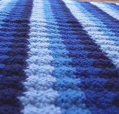 modern stripes crochet baby blanket