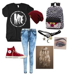 First day of school by ashley1801 on Polyvore featuring polyvore, fashion, style, Wet Seal, Converse and Vans