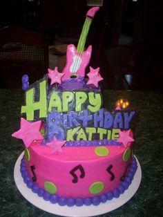Rockstar Birthday Cake #birthdaycake