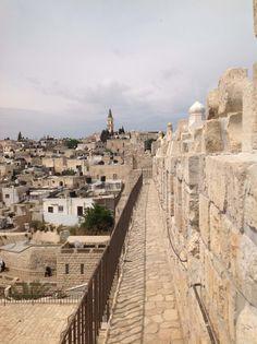 JERUSALEM, ISRAEL - The Ramparts Walk in the Old City of Jerusalem #travel
