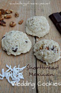 Shortbread Mexican Wedding Cookies (Gluten Free/ Dairy Free/ Refined Sugar Free/ Vegan/ Soy Free/ Nut Free)