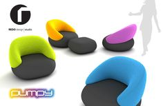 PUMPY - upholstery set - project 2011 by Redo Design Studio , via Behance