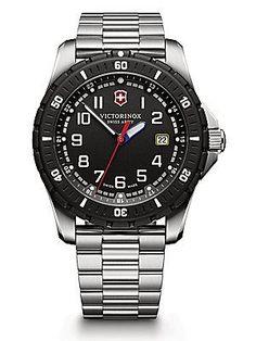 Victorinox Swiss Army Maverick Sport Stainless Steel Watch - Silver-Bl