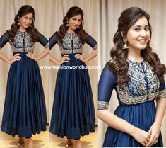 Raashi Khanna  attended the success meet of Adanga Maru and she was seen in blue embroidered anarkali kurta by Jayanti Reddy.  Wavy Adanga MaruAdanga Marupinned back hair ,  pink makeup , Gold jhumkas from Aquamarine and gold sandals completed her look.