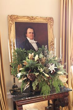 James Farmer Christmas floral arrangement- love the floral, not the picture so much...