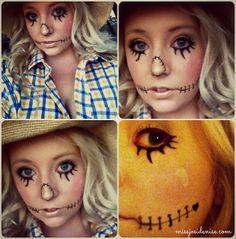cool scarecrow makeup for Halloween | halloween | Pinterest ...