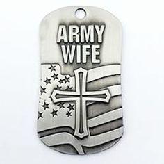 Army Wife Dog Tag