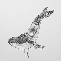 Whale Drawing IdeaYou can find Art drawings and more on our website. Art And Illustration, Illustration Inspiration, Ink Drawings, Cool Drawings, Art Drawings Sketches Simple, Detailed Drawings, Whale Tattoos, Killer Whale Tattoo, Killer Whales