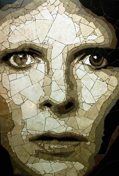 David Bowie mosaic by Ed Chapman.