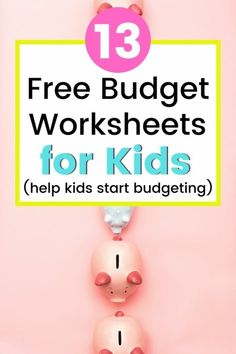 Kids budget worksheets free printables are so hard to find! I love these youth budget worksheets listed in this article. These monthly budget printables for kids will help my own children use their allowance better – maybe they'll even save up for a goal! Youth budget templates, children's budget worksheets, budget activity for kids, financial literacy, etc. #financialliteracy #education #budgets