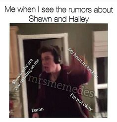 First of all before people get mad at me for pinning this, I pinned it as a joke I'm not one of those crazy ones that thinks they are actually gonna end up with Shawn. I hope he finds someone he truly loves BUT tbh I don't believe what's happening between them rn cuz Haileys friends said that and no one has pictures of them so when someone actually proves it I'll believe it.