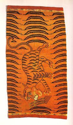 TIBETIAN TIGER CARPETS | Tibetan tiger rugs