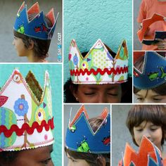 fabric crown / corona de tela http://www.cosmos.cat/es/botiga/especials/especial-ni%C3%B1os