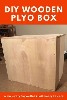 Step-by-step instructions on how to build your own wooden plyo box! Plyo Box Plans, Diy Plyo Box, Diy Box, Crossfit Garage Gym, Home Gym Garage, Diy Home Gym, Diy Gym Equipment, No Equipment Workout, Fitness Equipment