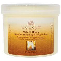 Cuccio Naturale Milk & Honey Hydrating Non-Oily Massage Creme 26 oz.