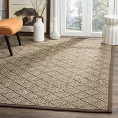 Shop for Safavieh Natural Fiber Contemporary Geometric Jute Natural/ Brown Area Rug (8' x 10'). Get free shipping at Overstock.com - Your Online Home Decor Outlet Store! Get 5% in rewards with Club O! - 22759046