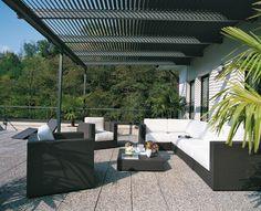 Patio Pergolas | Proteja su patio con pérgolas de vinilo :: VisitaCasas.com