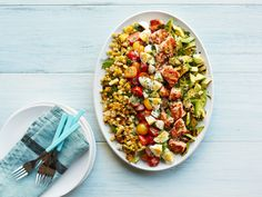 Get this all-star, easy-to-follow Grilled Salmon Cobb Salad recipe from Food Network Kitchen