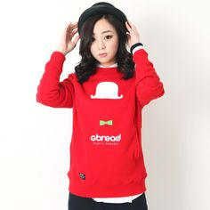 [지브래드]GM ICON CLASSIC FLEECE CREW NECK (DARK RED)