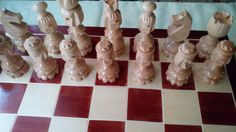 Brettspiele - Neu geschnitz sonder gross schon holz schachspiel - ein Designerstück von HandgefertigteSchach bei DaWanda