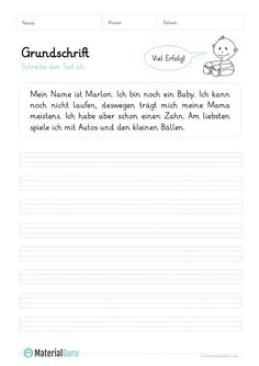 Grundschrift - MaterialGuru Texts, Alphabet, Teacher, Education, Sayings, School, English, Diy, School Worksheets