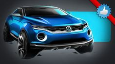 Volkswagen T-ROC concept - This is the new VW T-ROC concept, which previews an SUV to possibly sit between the forthcoming up!-based Taigun and the Tiguan. The three-door T-ROC surprised 2014 Geneva Motor Show visitors with its radical styling.
