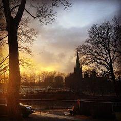 Instagram photo by @Aina Bjørnback via ink361.com Land Of Midnight Sun, Trondheim, Norway, Canvas Wall Art, Celestial, Sunset, Outdoor, Instagram, Sunsets