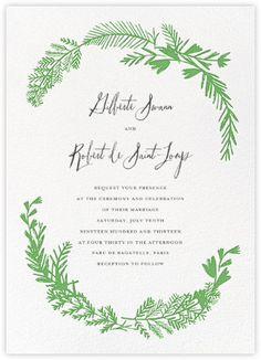 Miss Mimi Margeaux II (Invitation) - Green - Paperless Post