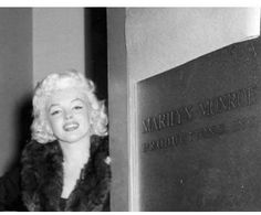 Marilyn at Marilyn Monroe Productions in New York, 1955. Photo by Milton Greene.