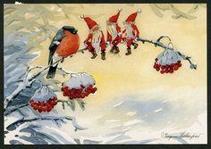 Julkort av Ingvor Holmqvist