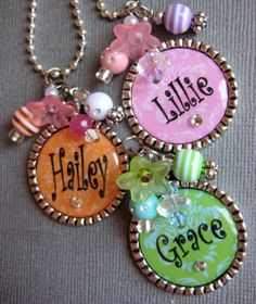 Cute pendants from Buttonit on Etsy