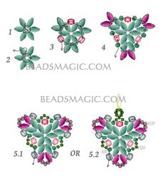 Free pattern for beaded earrings Muar U need: seed beads 8/0 seed beads 11/0 seed beads 15/0, Faceted beads 4 mm, super duo beads