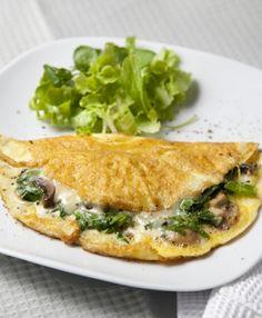 Omelette de espinacas y crema. Recetas Express de LIDER